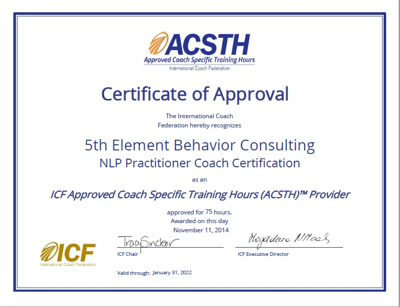 Icf Approved Nlp Coach Certification